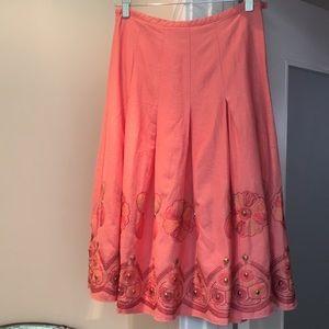 Boho inspired peach skirt by Ninety!